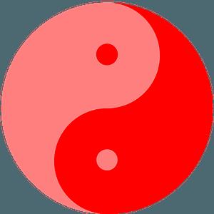 Yin-Yang red clipart