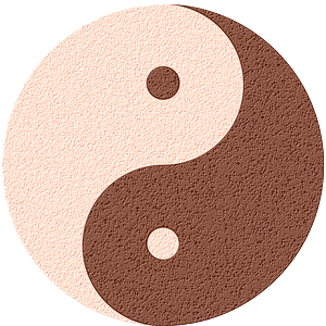 Yin-Yang leather clipart