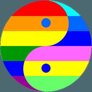 Rainbow Yin-Yang clipart