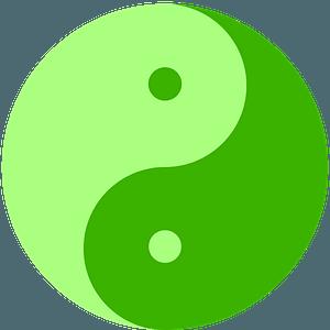 Yin-Yang green clipart