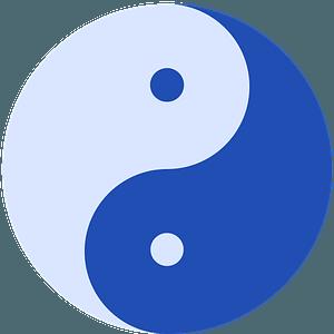 Yin-Yang blue clipart