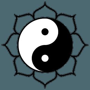 Yin yang lotus clipart