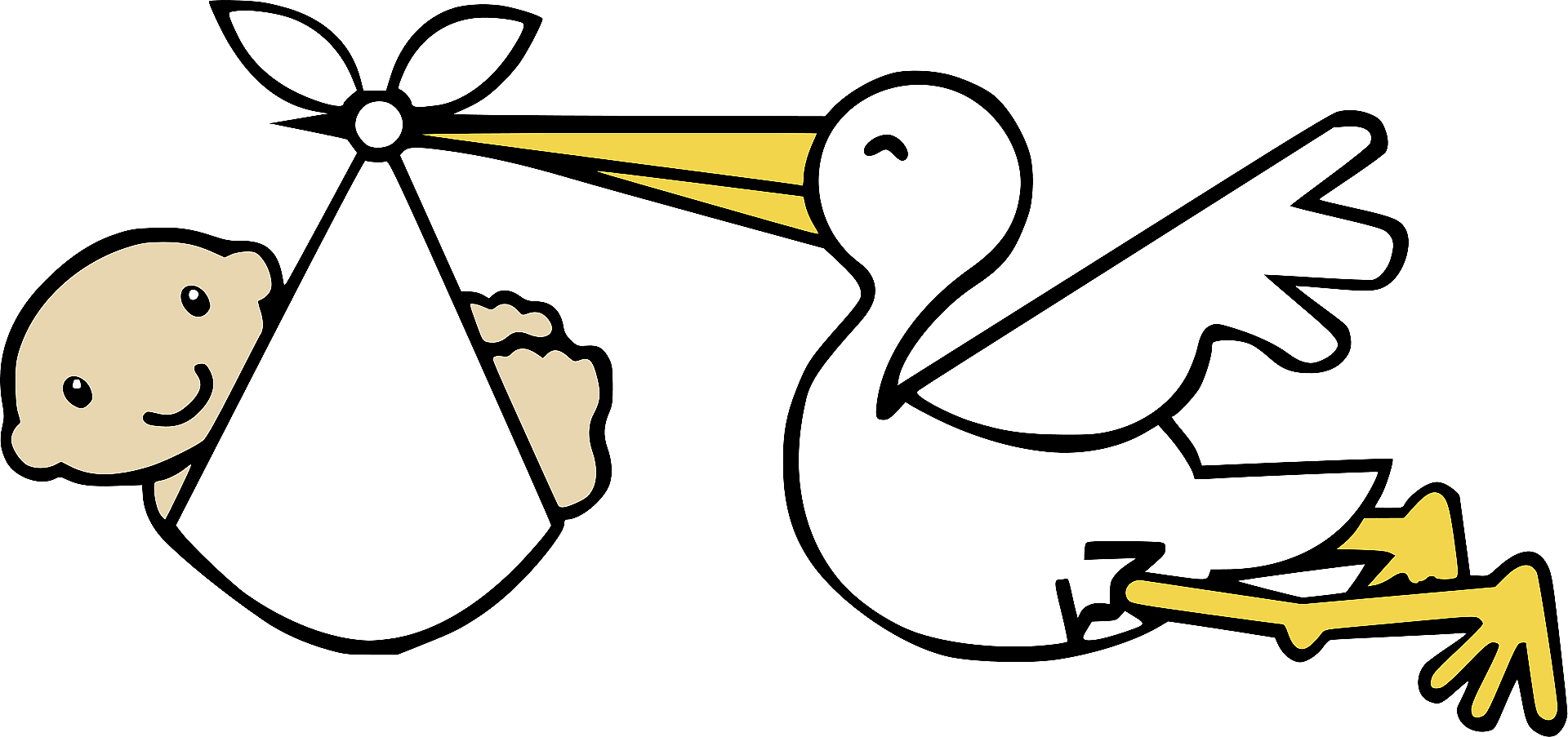 Stork Carrying Baby Clipart Free Download Transparent Png Creazilla