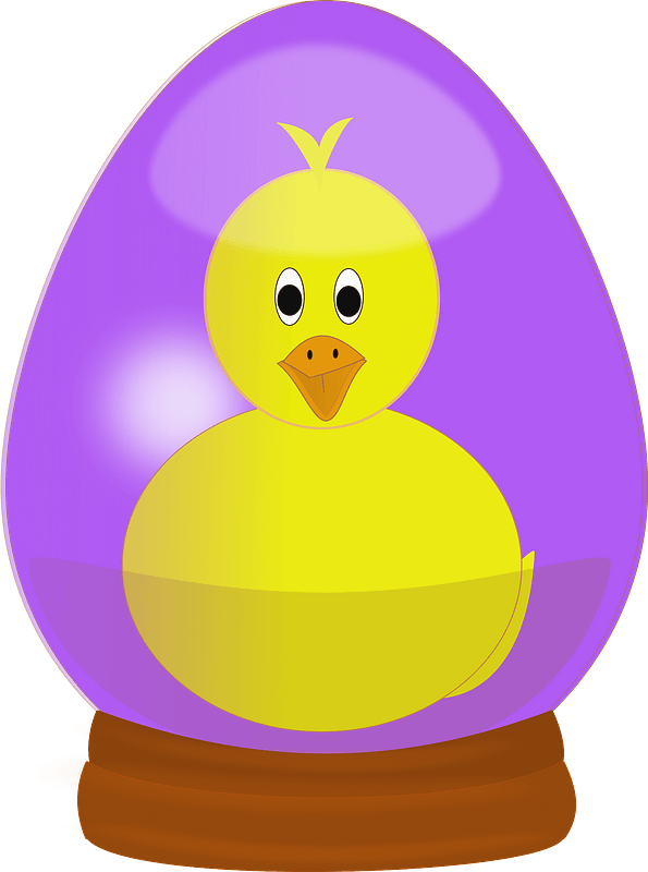 Chick in easter egg globe clipart