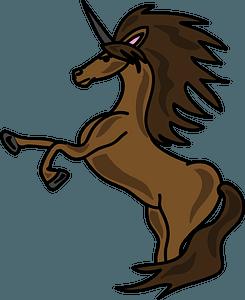 Brown Unicorn clipart