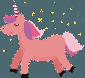 Pink Unicorn clipart