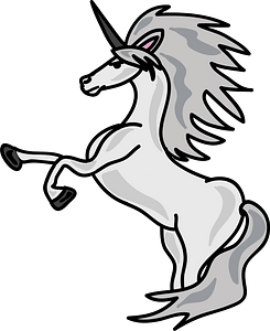 White Unicorn clipart