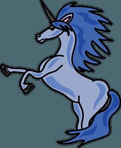 Blue Unicorn clipart