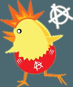 Punk rock chick clipart