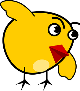 Bowing Chick clipart
