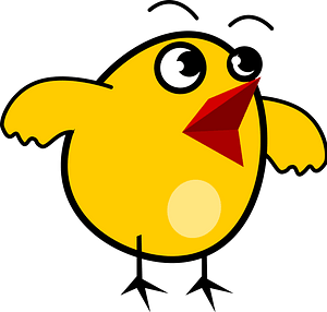 Surprised Chick clipart