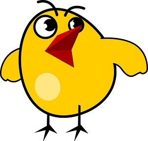 Annoyed Chick clipart
