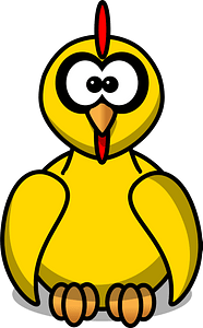 Chick with Big Eyes clipart