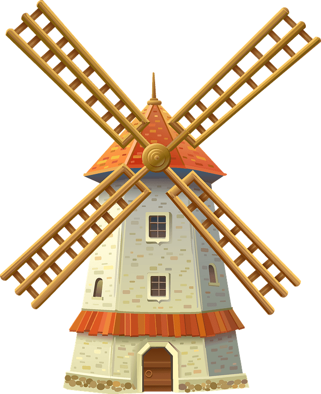 Windmill clipart. Free download transparent .PNG | Creazilla