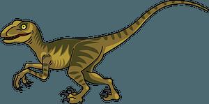 Velociraptorのクリップアート