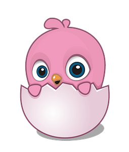 Cartoon chick clipart