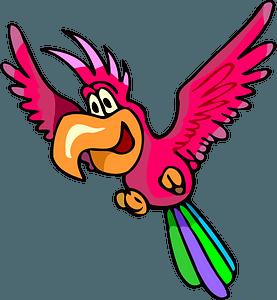Parrot in flight clipart