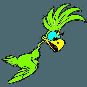Cartoon parrot clipart