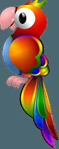 Rainbow Parrot clipart