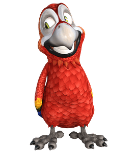 Smiling parrot clipart