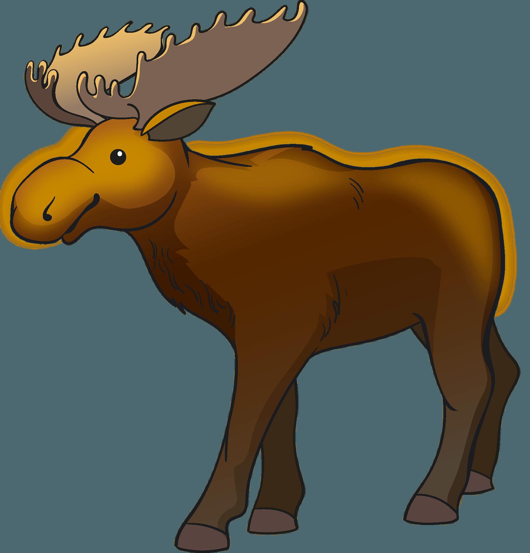 Cute moose clipart | ClipartMonk - Free Clip Art Images