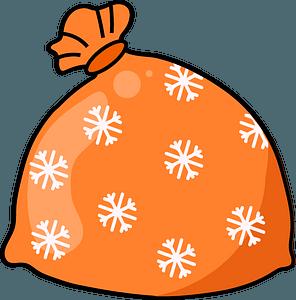 Santa sack clipart