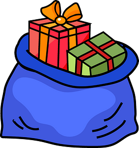 Sack with gifts clipart