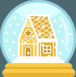 Christmas snowglobe clipart