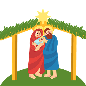 Christmas nativity clipart
