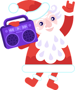 Christmas music clipart