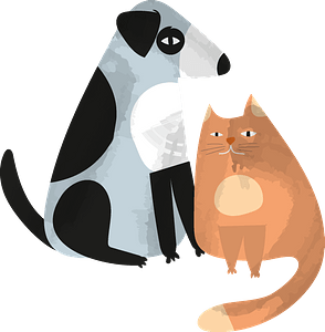 Dog and cat clipart