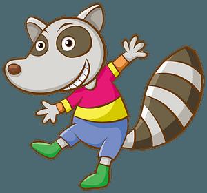 Cartoon raccoon clipart