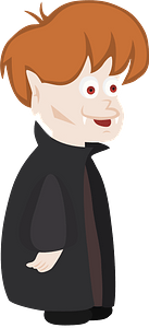 Young vampire character clipart