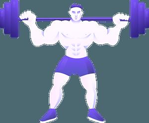 Bodybuilding immagine clipart