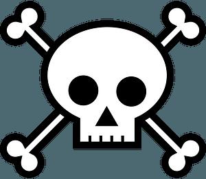 Skull and crossbones clipart