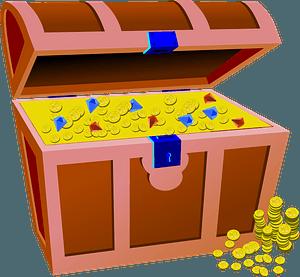 Full treasure chest clipart
