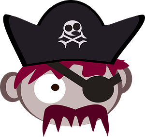 Roll pirate captain clipart