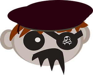 Roll pirate clipart
