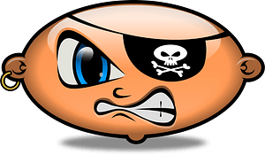 Pirate bean clipart