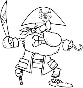 Pirate outline clipart