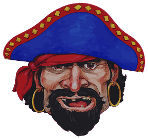 Realistic pirate face clipart