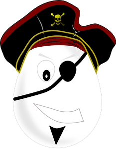 Egg pirate clipart