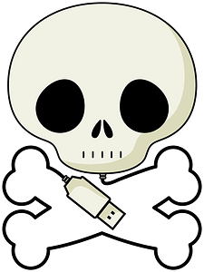 Pirate bones with USB clipart