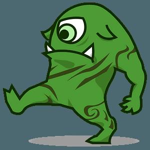 Alien monster emoji clipart