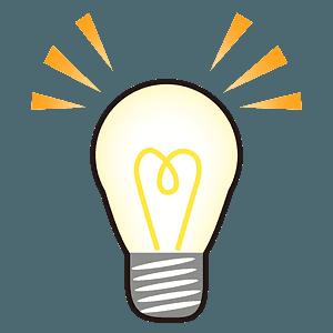 Light bulb emoji clipart