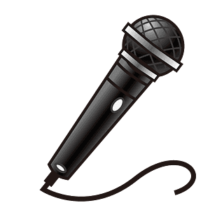 Microphone emoji clipart