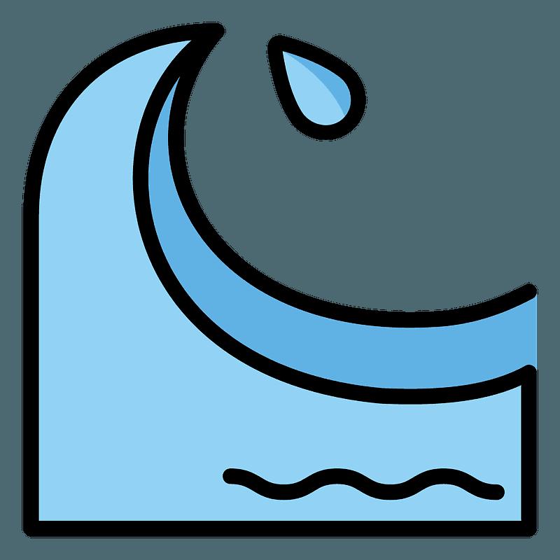 Water wave emoji clipart. Free download transparent .PNG ...