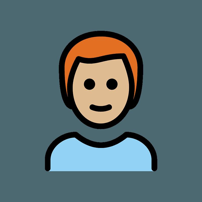 Peau Moyennement Claire Et Cheveux Roux Homme Image Clipart Telechargement Gratuit Creazilla
