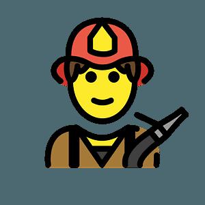 Firefighter emoji clipart