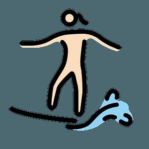 Dunkle Hautfarbe Surferin clipart